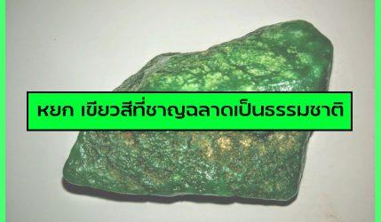 หยก เขียวสีที่ชาญฉลาดเป็นธรรมชาติ
